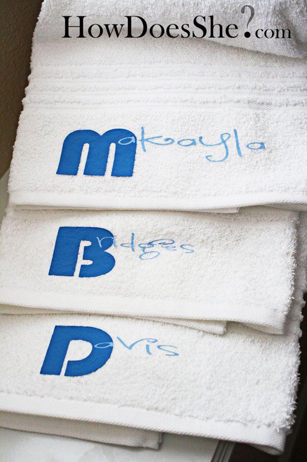 1000 Ideas About Monogram Towels On Pinterest Machine