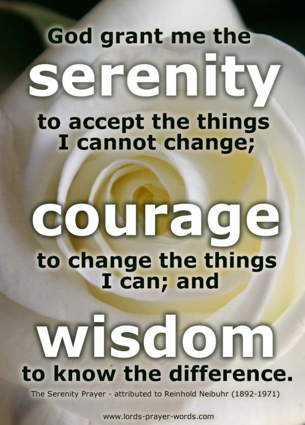 Serenity Prayer Poster - Serenity, Courage and Wisdom