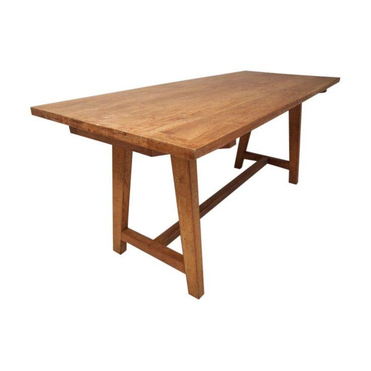 Vintage School Arts and Crafts Refectory Table