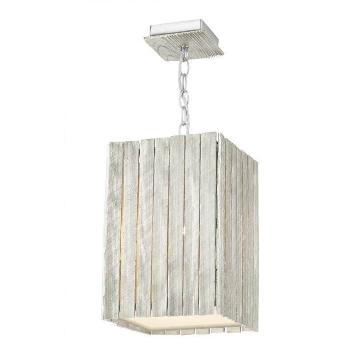 David Hunt Lighting WHI0132 Whistler Small Pendant Light in Distressed Silver