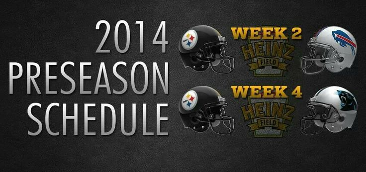 STEELERS Preseason Schedule 2014