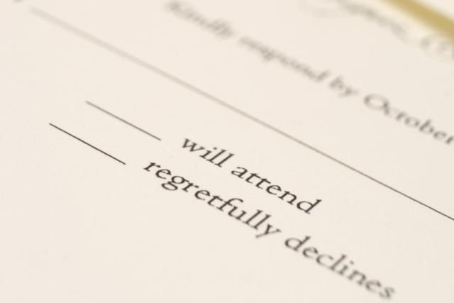 Browse wedding RSVP card wording samples in our wedding response card guide. Learn what a response card should say, the etiquette of response cards, and more.