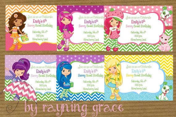 Strawberry Shortcake and Friends Birthday Party by RayningGrace, $11.00
