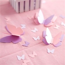 Flying & Personalized Butterfly Table Confetti for Butterfly Themed Birthday Decorations.  Any color combination! from www.settocelebrate.com