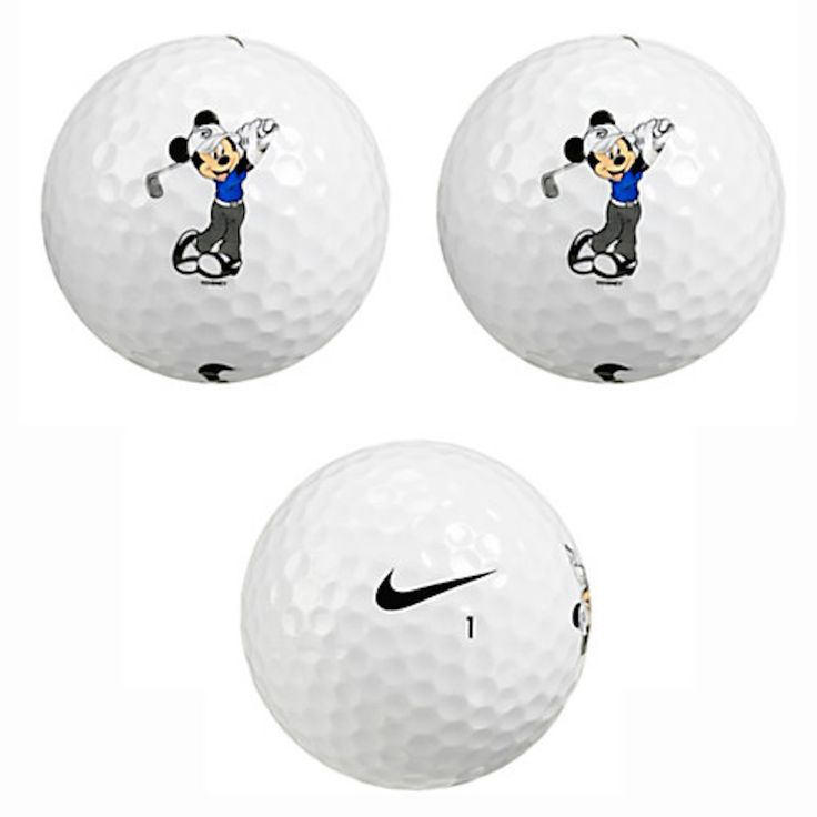 disney parks mickey mouse golf balls by nike golf set of 3 new with box