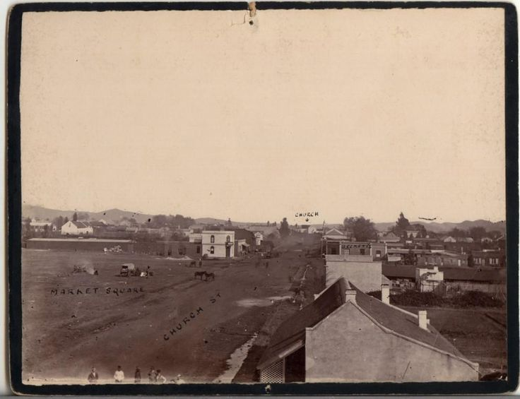 Gros (double storey) studio In Pretoria (photograph circa 1880) – Photograph assumed to be one by Gros himself