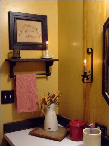 63 best images about primitive bathrooms on pinterest bathroom vanity lighting primitive - Primitive bathroom vanity lights ...