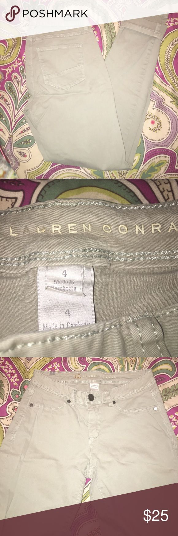 Light Olive Skinny LC Lauren Conrad jeans These light olive green jeans are perfect to transition from winter to spring! Great with pastels and sandals! These pants are very comfortable and flattering ✨ LC Lauren Conrad Jeans Skinny