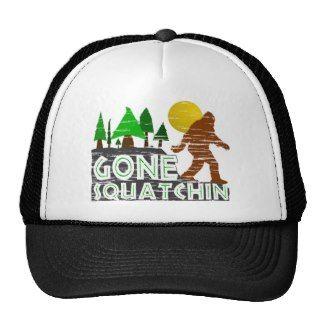 Vintage Gone Squatchin Design Hat
