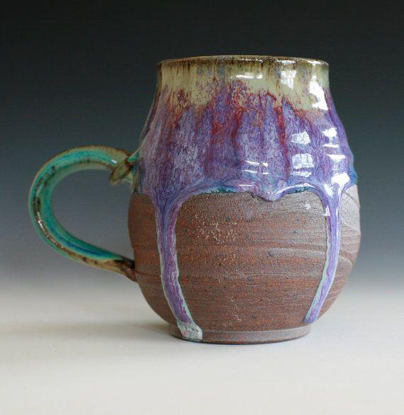 Extra Large Coffee Mug Holds 30 oz handmade ceramic by ocpottery    I NEED this!