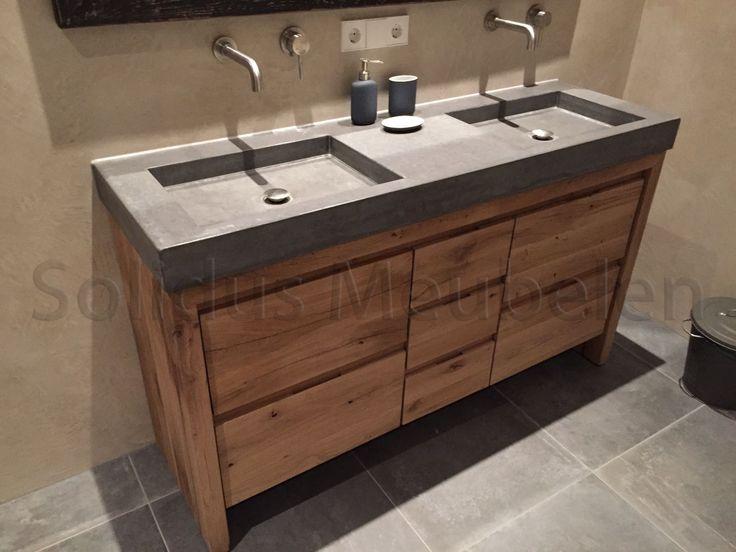 34 best badkamermeubel van hout en beton images on pinterest