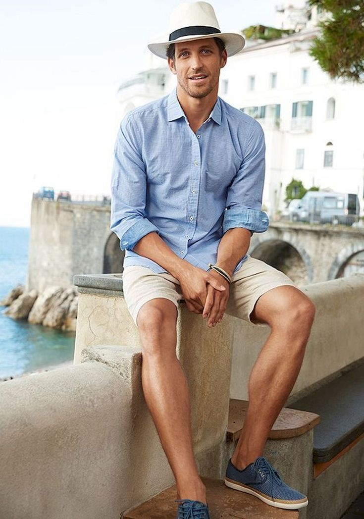 Men's casual outfit for the beach