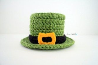 Lucky Top Hat free crochet pattern - Free Crochet St. Patrick's Day Hat Patterns - The Lavender Chair