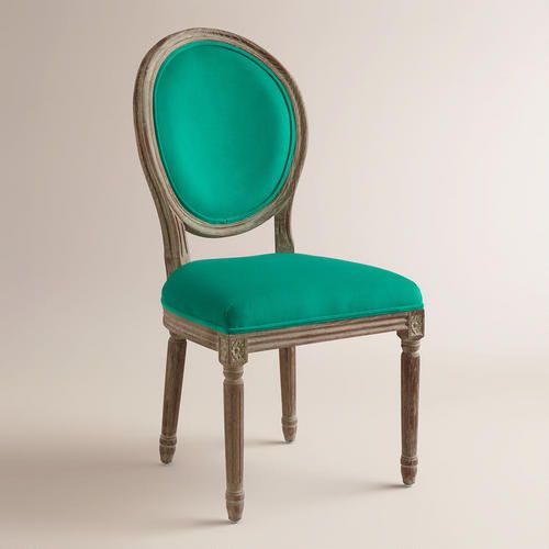 One of my favorite discoveries at WorldMarket.com: Emerald Paige Round Back Dining Chairs, Set of 2