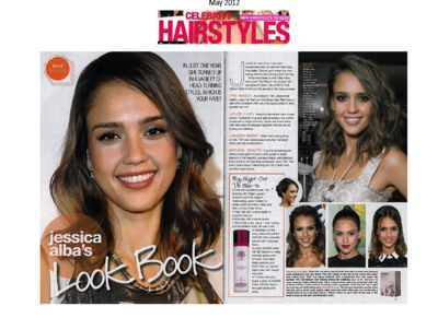Look at #JessicaAlba's #hair and our pretty #KeSARI bottle!!