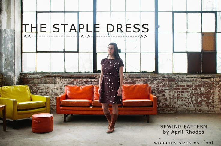 april rhodes: staple dress -- bought this pattern today! can't wait to try it out, looks very comfy. would also be cute as a tunic with the high/low hem (even though I am skeptical of that style).