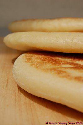 Moroccan flatbread -  Ingredients:  300g Plain white flour  100g Fine semolina (Durum Flour/Semolina Di Grano Duro)  1 1/4 Tsps salt  1 Package (7g) Dried yeast  300-320ml Water, lukewarm (not hot)