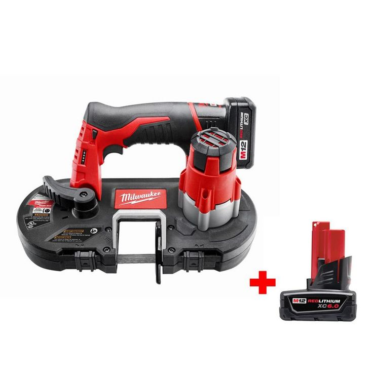Milwaukee M12 12-Volt Lithium-Ion Cordless Sub-Compact Band Saw XC Kit with 6.0Ah Battery