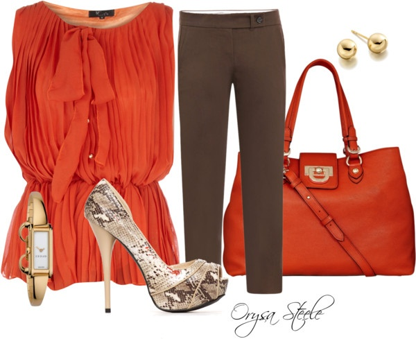 .: Colors Combos, Golden Accessories, Polyvore Fashion Style, Favorite Colors, Work Lunches, Add Sleeve, Polyvore Clothing, Style Fashion, Dinners Date