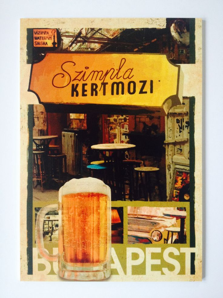 Retro Szimpla beer, Budapest :: I Love Budapest. 30€ + delivery. This is a unique 27×39 cm, specially direct printed 5mm thick PVC plate to decorate your walls, furniture, office, etc. You can order here: hello/@/artmarket.hu :: Also available on canvas, see link: http://artmarket.hu