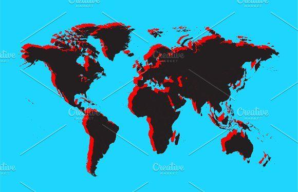 Mejores 102 imgenes de world maps en pinterest mapas del mundo modern isolated g world map gumiabroncs Images