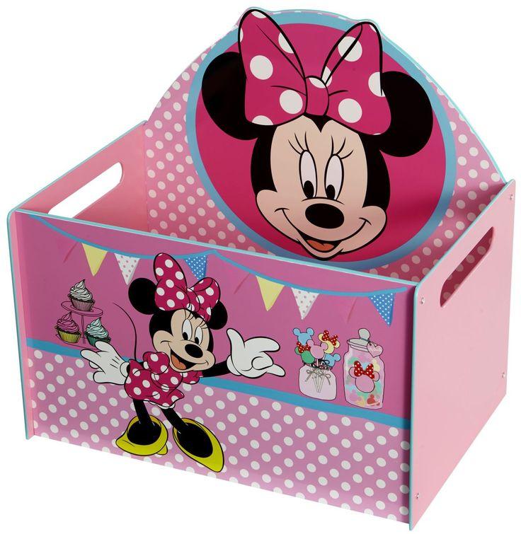 Deze stevige speelgoedkist van MDF is ideaal voor het opbergen van al het geliefde speelgoed en de spelletjes van je zoon. Perfect voor in de slaapkamer of speelkamer. Vervaardigd van het sterke materiaal MDF en voorzien van een eenvoudig montagesysteem en bedrukt met afbeeldingen van hoge kwaliteit van allerlei voertuigen. Deze praktische kist van hoge kwaliteit is een absolute aanrader voor je kleintje.   Afmeting: 650x50x600 mm - Opbergbox Minnie Mouse: 40x59x56 cm