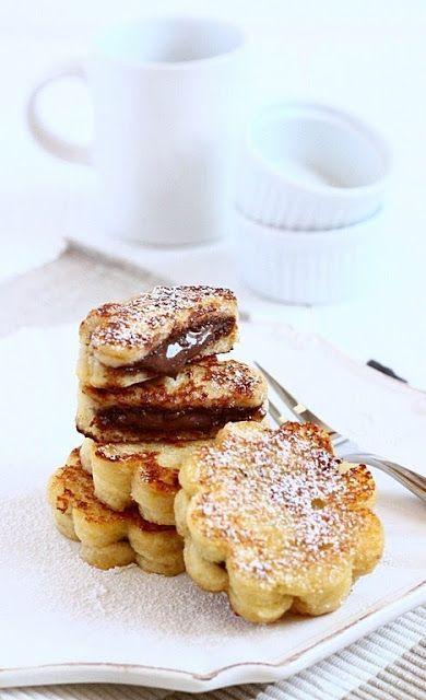 Nutella flowers mini cake ♥