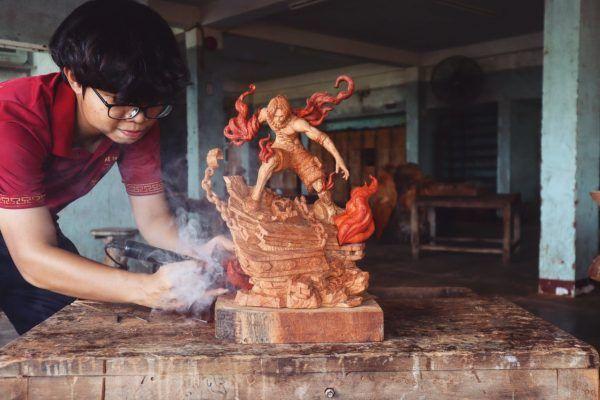 Ghim Tren Anime Wood Carving