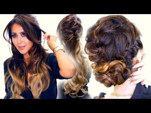 2 ★ Summer BRAID Hairstyles | Cute Half-Updo & Messy Bun Hairstyle - YouTube