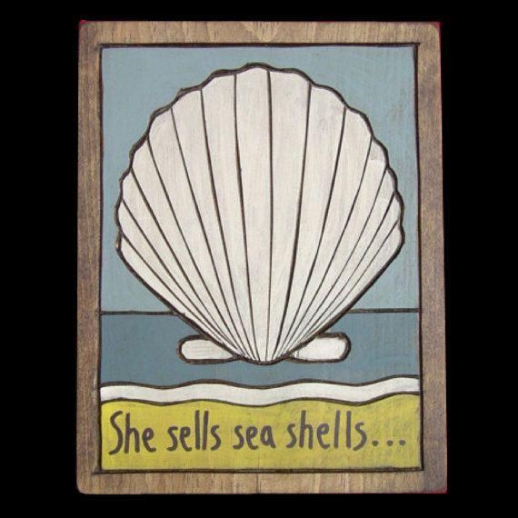 Seashells: Sea Shells, Beaches Crafts, Shells Crafts, Wooden Paintings, Shells Wooden, Artsy Fartsi, Beaches Bum, Seashells Art, Sell Seashells