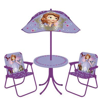 Kids Only Sofia The First Kids Round Patio Set