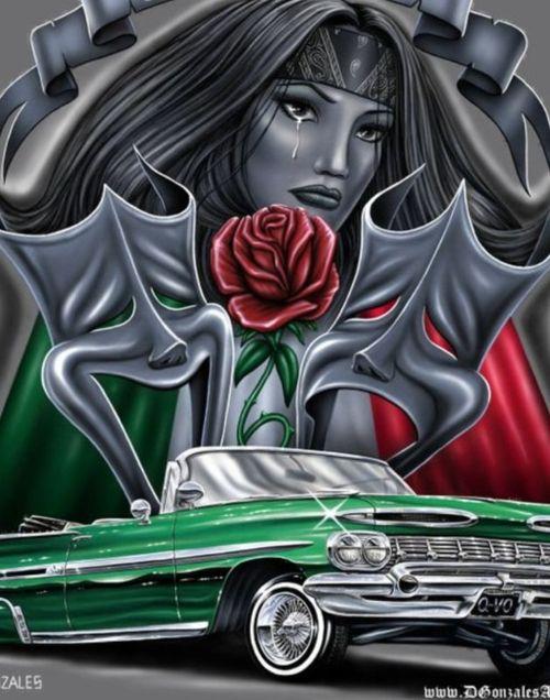 Real Art  Lowrider Art  Mi Cultura  Lowriderart  Schools Art  Chicano    Lowrider Arte Jokers