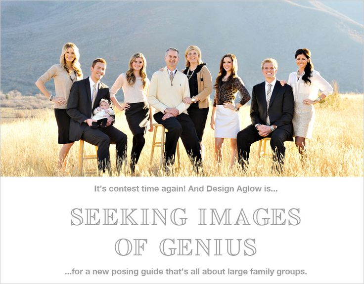 Many of you have written us and requested a guide completely devoted to creative poses and session ideas for large family groups (of 8 or more) and we are more than happy to deliver. Description from designaglow.com. I searched for this on bing.com/images