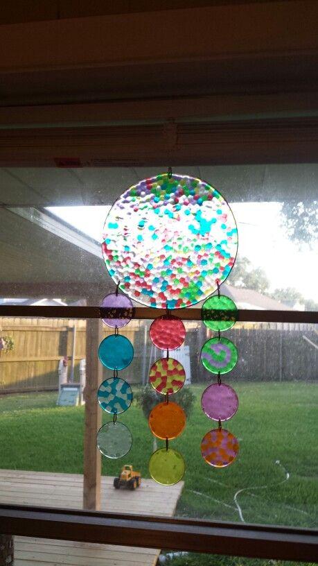 My melted bead sun catcher