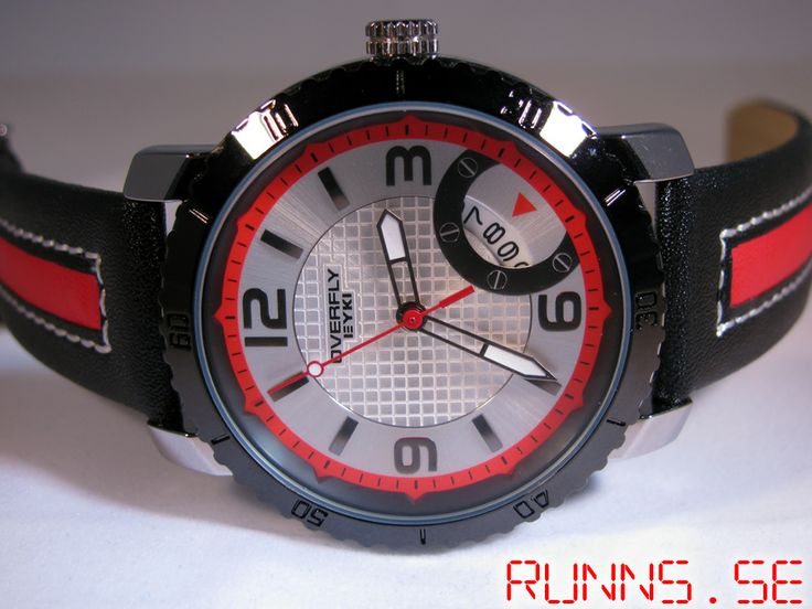 Armbandsur Eyki - Overfly Sport (silver/röd) #eyki #kimio #sportklocka #sportklockor #armbandsur #klocka #klockor #herrklocka #herrklockor #runns #watch #watches #nato #natoband #overfly