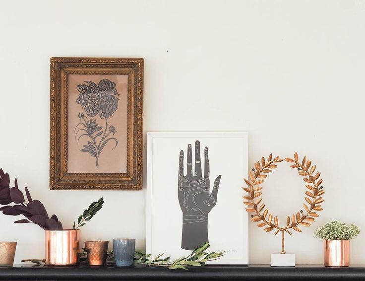Mantel styling. We're really feeling it!