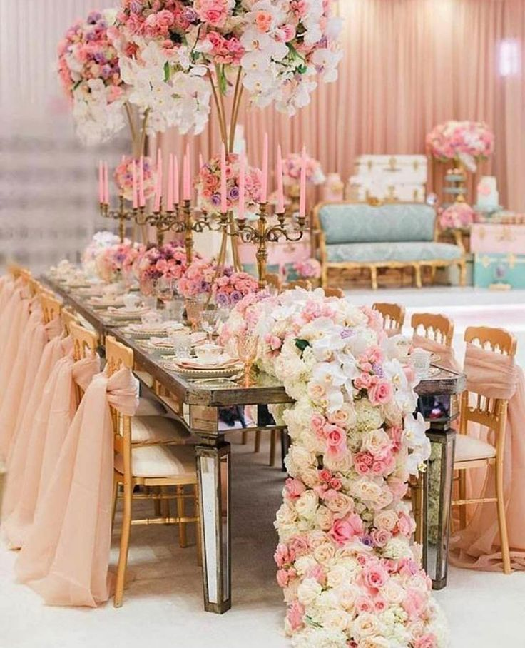 """""""What do you think about this #Pinkspiration #TableTop ? Tag someone that would love this! Repost from @thewedlist Photography: @lunademarephoto"""""""