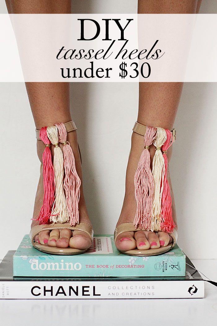 DIY Tassel Heels  www.styleyoursenses.com
