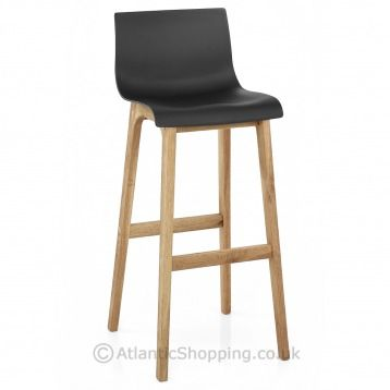 drift oak u0026 black bar stool