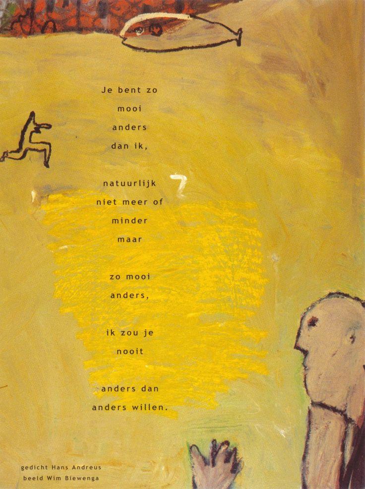 Aan de muur - Poëzieposters - poëzieposter Je bent zo Hans Andreus - Plint