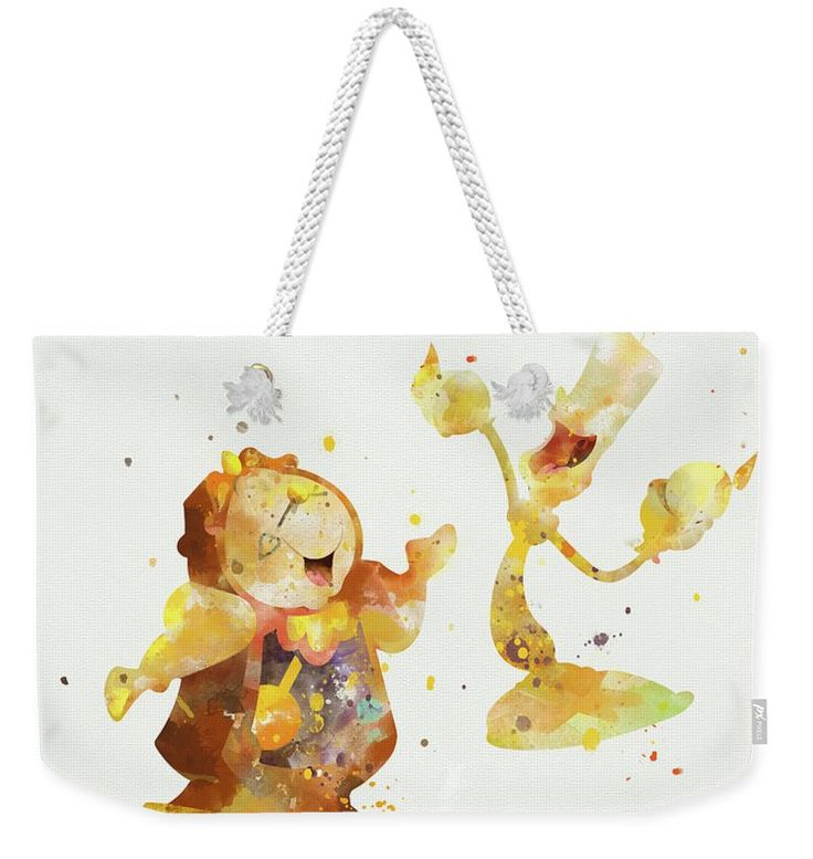 Cogsworth And Lumiere Weekender Tote Bag for Sale by Monn Print