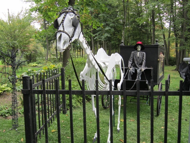 skeleton horse and hearse we built ourselves