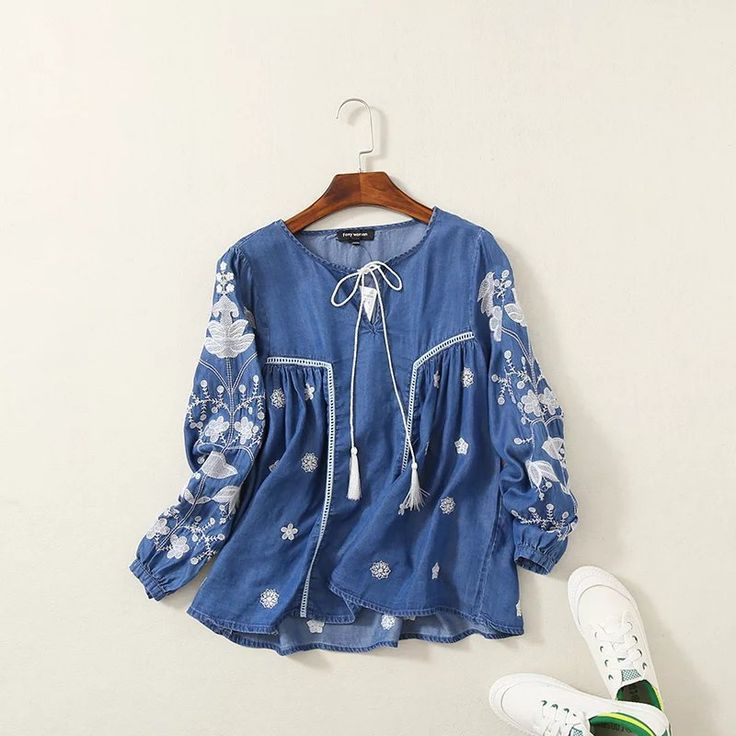 Like and Share if you want this  Women Ethnic Blouse Shirt Embroidery Long Sleeve Tencel Denim Cotton Shirts Pullover Jeans Tunic Vintage Tops Female Clothing     Tag a friend who would love this!     FREE Shipping Worldwide     Buy one here---> https://worldoffashionandbeauty.com/women-ethnic-blouse-shirt-embroidery-long-sleeve-tencel-denim-cotton-shirts-pullover-jeans-tunic-vintage-tops-female-clothing/
