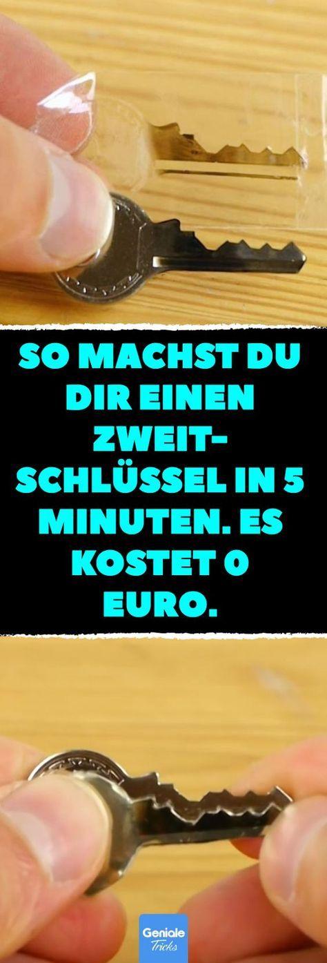 So machst du dir einen Zweitschlüssel in 5 Minuten. Es kostet 0 Euro. Trick 17:… – Haushalts & Tipps & Tricks & mehr ‼️