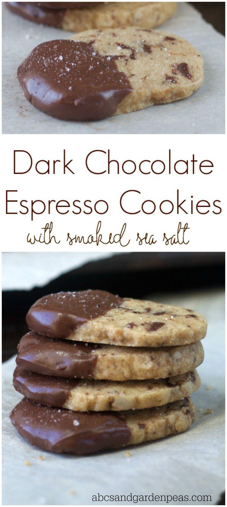 Dark Chocolate Espresso Cookies with Smoked Sea Salt