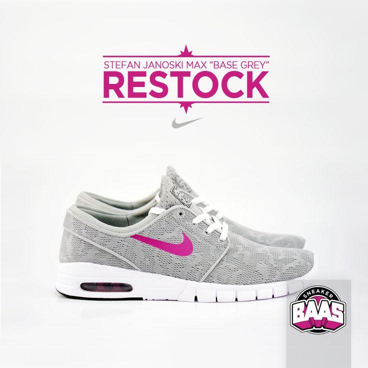 "Nike SB Stefan Janoski Max ""Base Grey""   Restock!   http://www.sneakerbaas.nl/stefan-janoski-max-base-grey.html   #NIKE #BAASBOVENBAAS #JANOSKI #RESTOCK   631303-061"