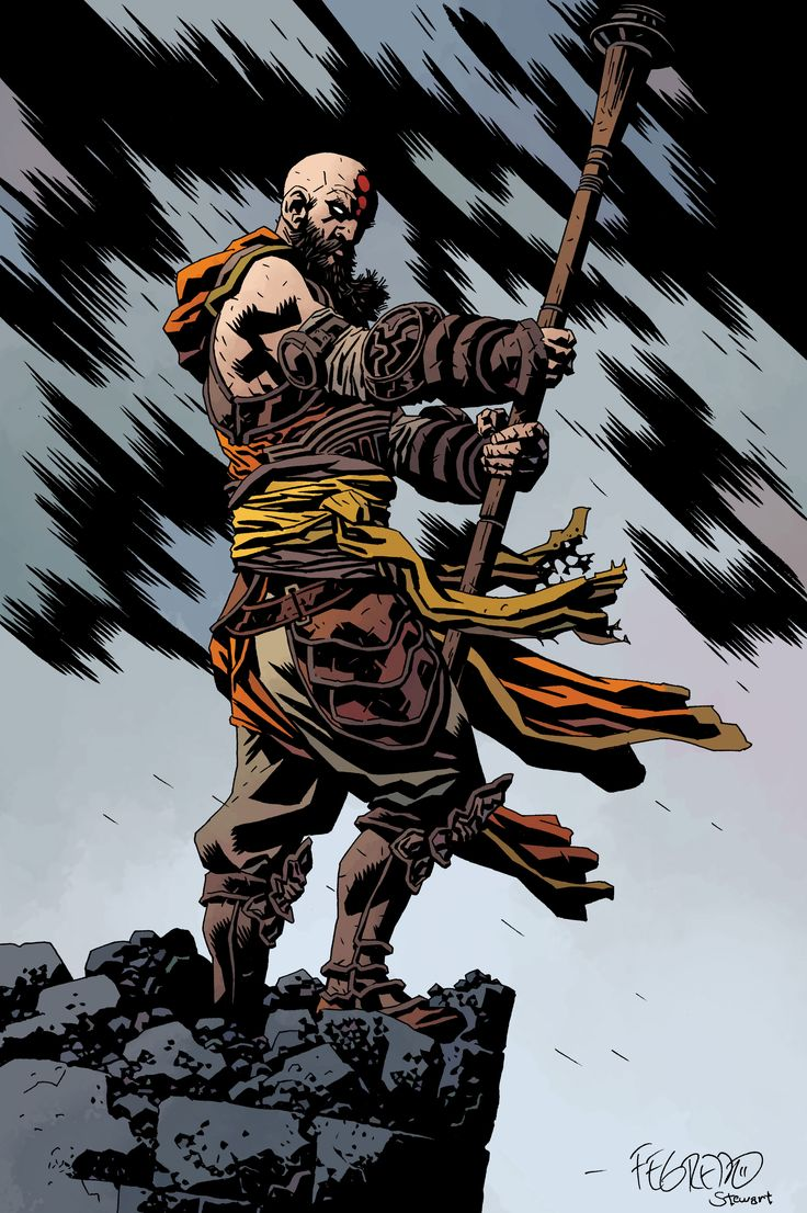 Diablo III art in the style of Mike Mignola.  *drool*  Done by artist Duncan Fegredo.