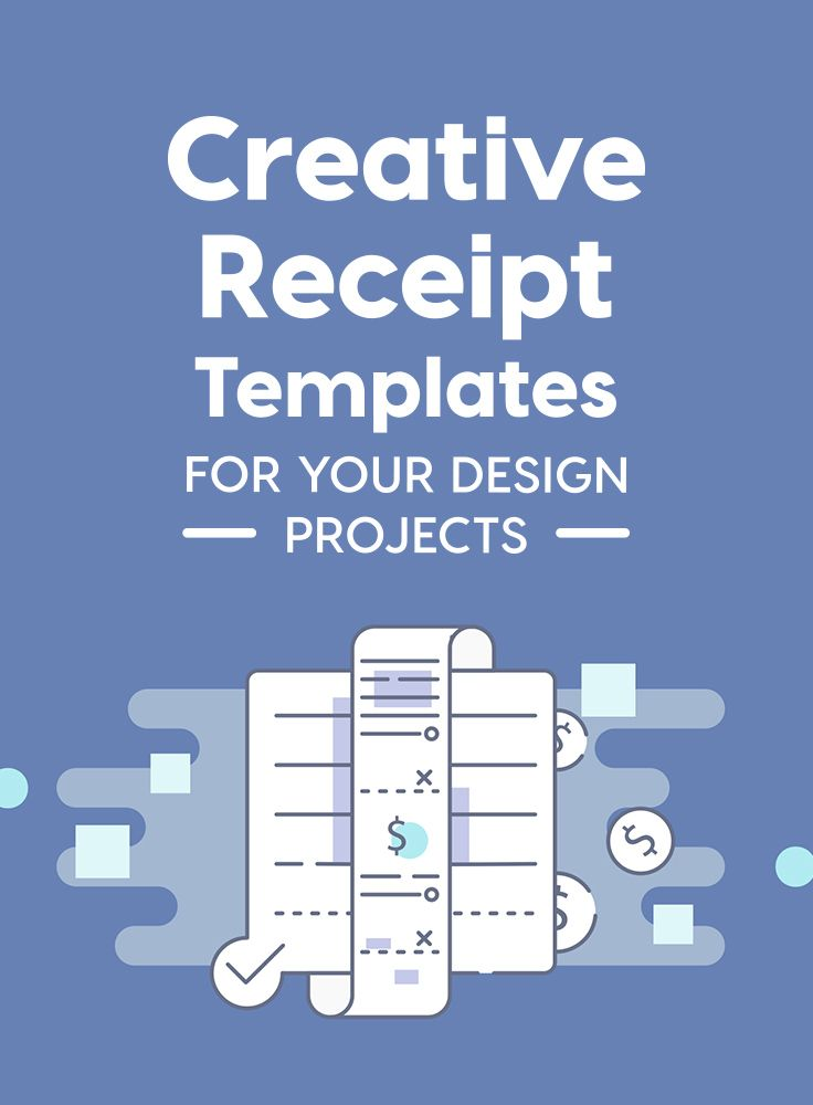 Creative Receipt Templates For Your Design Projects Receipt Template Invoice Template Blog Marketing