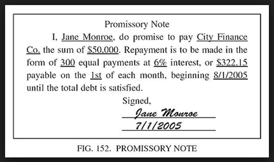 Printable Sample Simple Promissory Note Form