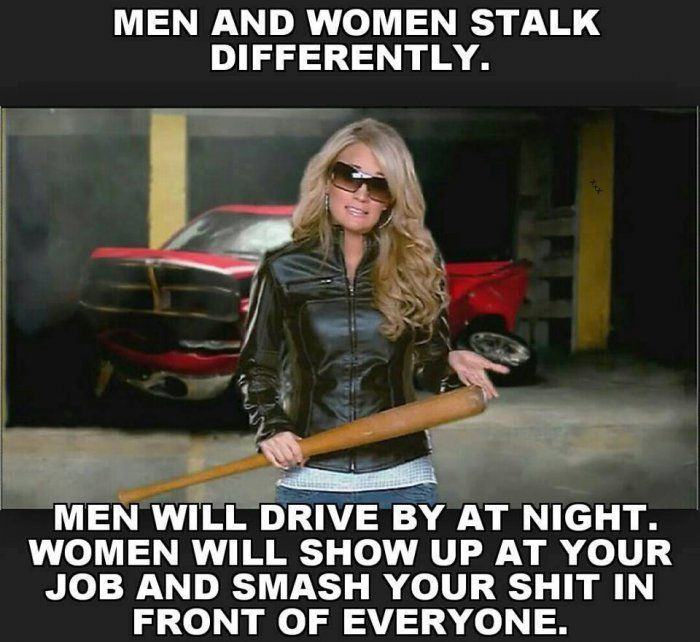 Funny Memes About Mens : Men and women stalk differently meme http